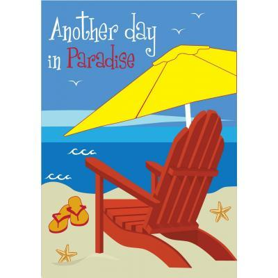 Beach Chair Another Day in Paradise Decorative Banner