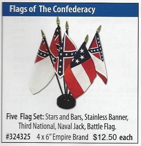 Stars and Bars, Stainless Banner, Third National, Naval Jack, Battle flag