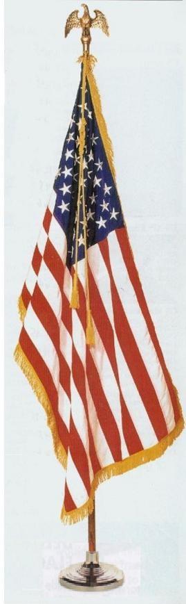 US Indoor Flagpole Set