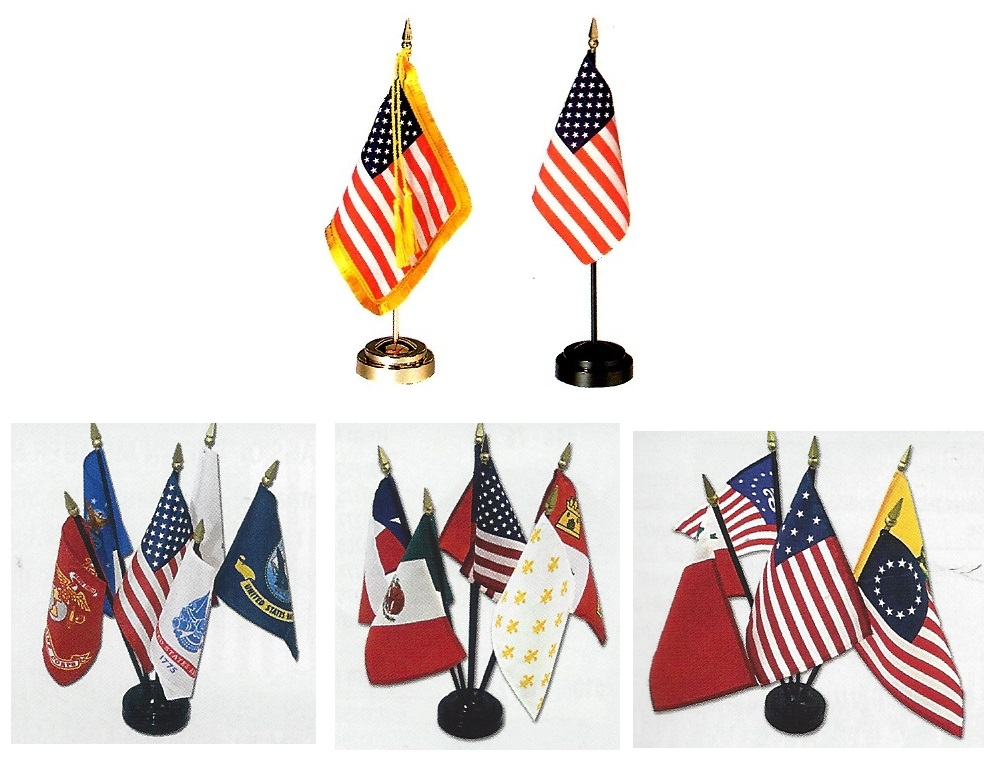 Miniature Desk Flags US Historical and International
