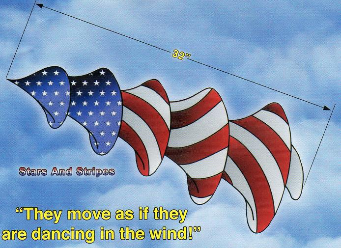 US Stars and Stripes Windspinit