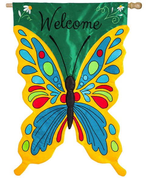Welcome Butterfly Banner